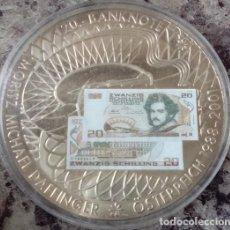 Monedas antiguas de Europa: BONITA MONEDA CON LA IMAGEN DE UN BILLETE DE 20 SHILLING CON M M DAFFINGER DESPIDE MONEDA AUSTRIA. Lote 73447695