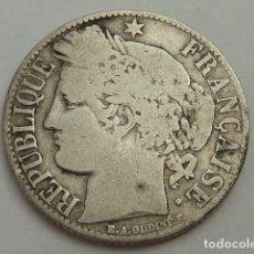 Monedas antiguas de Europa: MONEDA DE PLATA DE 1 FRANCO DE 1881 FRANCIA, DIOSA CERES, CECA DE PARIS. Lote 73450067
