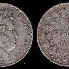 Monedas antiguas de Europa: FRANCIA 5 FRANCOS LUIS FELIPE I 1847-A. Lote 73457787