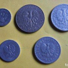 Monedas antiguas de Europa: LOTE 5 MONEDAS POLONIA. POLSKA RZECZPOSPOLITA.ZLOTE, GROSZY. ZLOTY. VER FOTOGRAFIAS. Lote 73529615