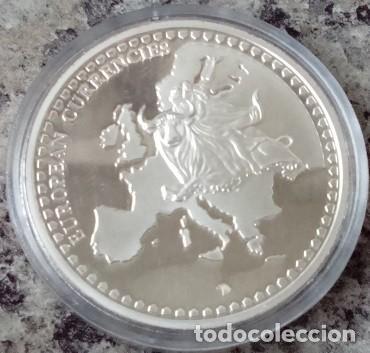 Monedas antiguas de Europa: MONEDA PLATA CON LA IMAGEN DE UN BILLETE DE 100 DM ALEMAN DE CLARA SCHUMANN DESPIDE MONEDA ALEMANA - Foto 2 - 73563003