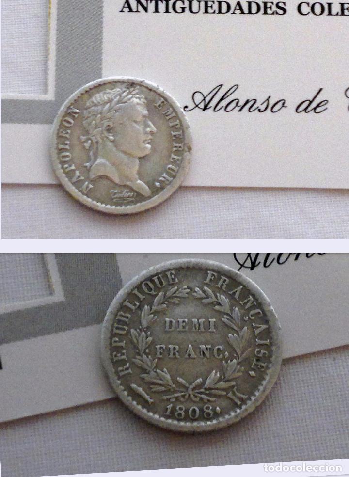 Año 1808 Republique Francaise Demi Franc Nap Comprar Monedas