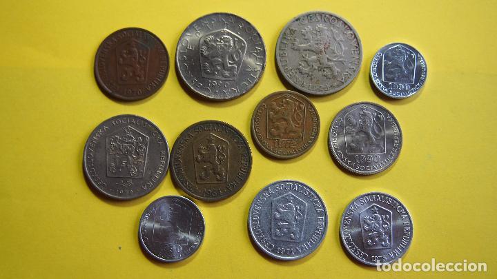 LOTE 11 MONEDAS CHECOSLOVAQUIA, CHECOESLOVAQUIA. CESKOSLOVENSKA. CESKOSLOVENSKO. CESKO (Numismática - Extranjeras - Europa)