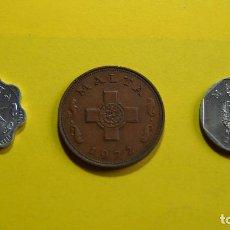 Monedas antiguas de Europa: LOTE 3 MONEDAS MALTA. CENT. MILS. CANGREJO. VER FOTOGRAFIAS. Lote 73639551