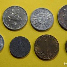 Monedas antiguas de Europa: LOTE 8 MONEDAS AUSTRIA. REPUBLIK OSTERREICH. SCHILLING. GROSCHEN. VER FOTOGRAFIAS. Lote 73640195