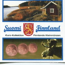 Monedas antiguas de Europa: FINLANDIA 2007 MINISET 1+2+5 CT. Lote 73857619