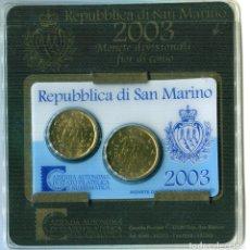 Monedas antiguas de Europa: SAN MARINO 2003 MINIKIT 20+50CTS. Lote 73857871