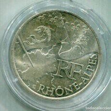 Monedas antiguas de Europa: FRANCIA 10€ PLATA 2010 RHONE-ALPS. Lote 73858679