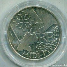 Monedas antiguas de Europa: FRANCIA 10€ PLATA 2010 MIDI-PYRINEES. Lote 73858895