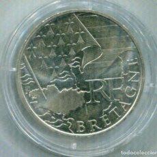 Monedas antiguas de Europa: FRANCIA 10€ PLATA 2010 BRETAGNE. Lote 73858947