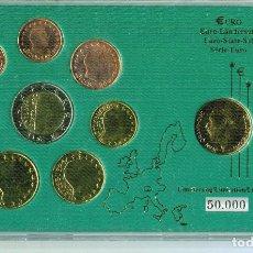 Monedas antiguas de Europa: LUXEMBURGO CARTERA EURO COIN SET VARIADA. Lote 74365947