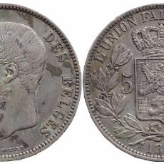 Monedas antiguas de Europa: BELGICA 5 FRANCOS 1868. Lote 74969715