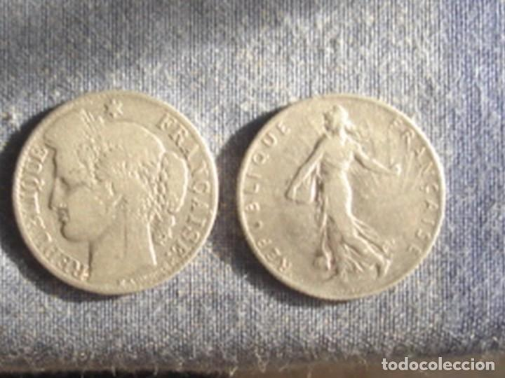 FRANCIA. TERCERA REPÚBLICA. 2 X MONEDA DE 50 CÉNTIMOS DE PLATA. 1881 (CERES) Y 1909 (SEMBRADORA) (Numismática - Extranjeras - Europa)