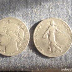 Monedas antiguas de Europa: FRANCIA. TERCERA REPÚBLICA. 2 X MONEDA DE 50 CÉNTIMOS DE PLATA. 1881 (CERES) Y 1909 (SEMBRADORA). Lote 75309151