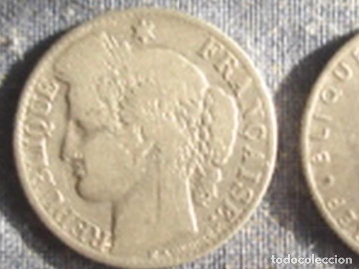 Monedas antiguas de Europa: Francia. Tercera república. 2 x moneda de 50 céntimos de plata. 1881 (Ceres) y 1909 (Sembradora) - Foto 3 - 75309151