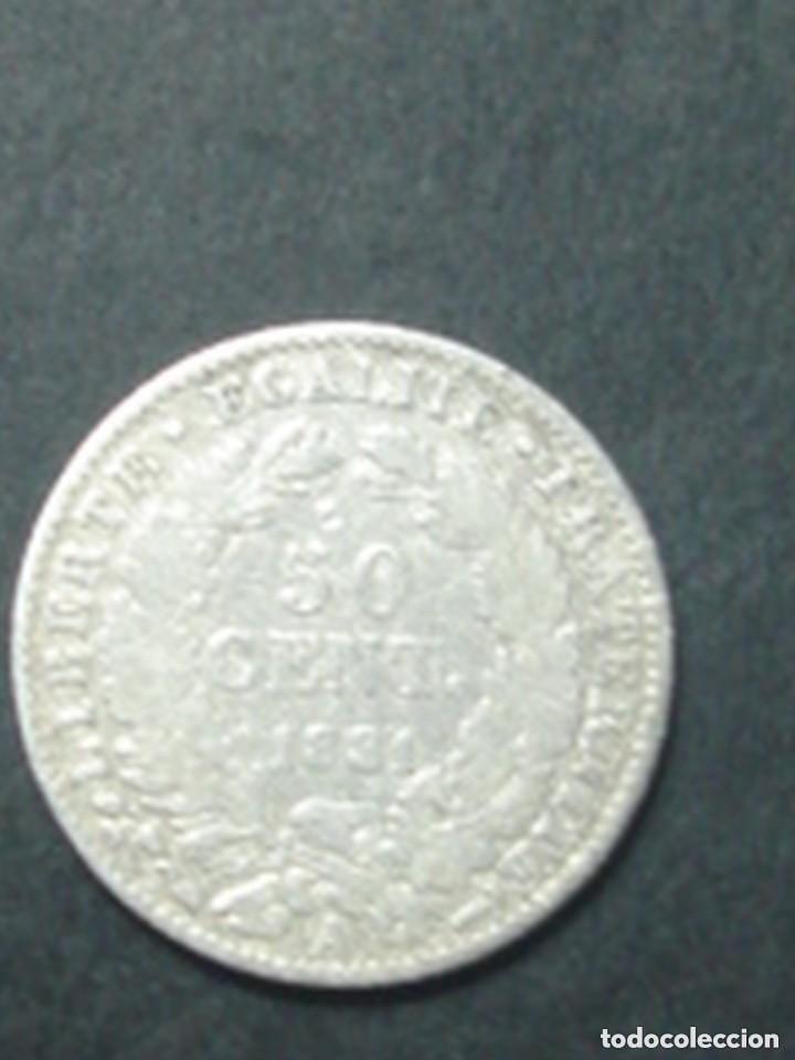 Monedas antiguas de Europa: Francia. Tercera república. 2 x moneda de 50 céntimos de plata. 1881 (Ceres) y 1909 (Sembradora) - Foto 6 - 75309151