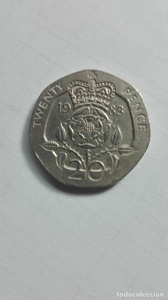 106 Una Moneda De 20 Pence Del Reino Unido Del Comprar Monedas