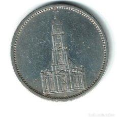 Monedas antiguas de Europa: ALEMANIA GOBIERNO NAZI, PLATA 5 MARCOS 1934 CECA A IGLESIA DE POSDAN - ESVÁSTICA. Lote 75913591