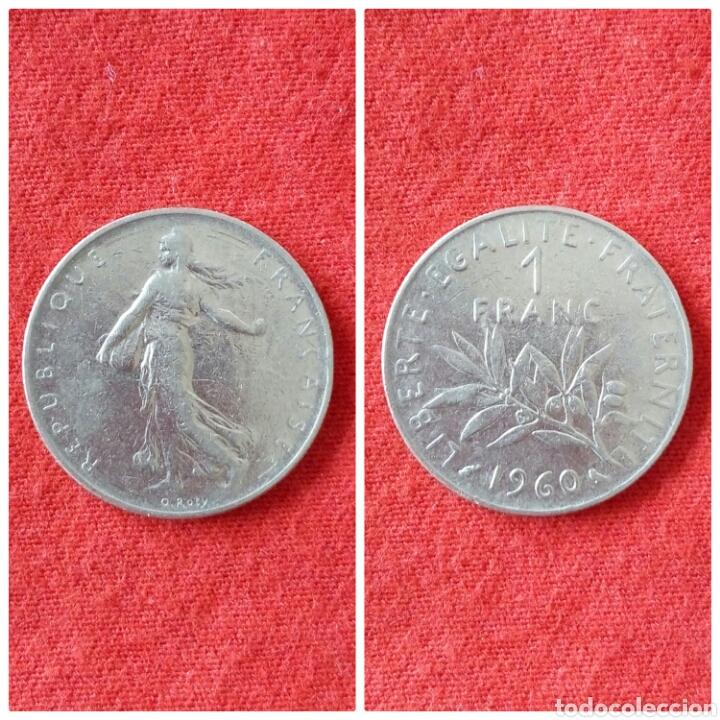MONEDA DE FRANCIA 1 FRANCO 1960 (Numismática - Extranjeras - Europa)