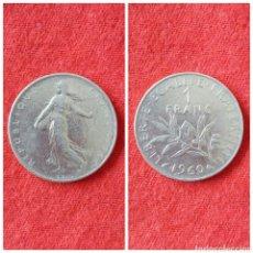 Monedas antiguas de Europa: MONEDA DE FRANCIA 1 FRANCO 1960. Lote 76000214