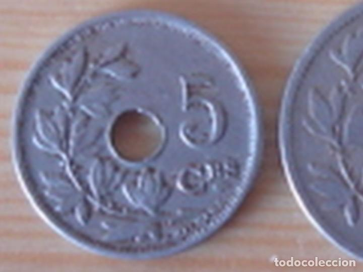 Monedas antiguas de Europa: Bélgica. Leopoldo II. 10 céntimos 1902 en neerlandés. Alberto I. 5 céntimos 1913 en francés - Foto 3 - 76043063