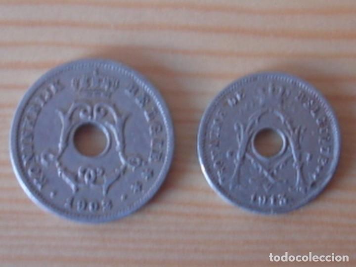 Monedas antiguas de Europa: Bélgica. Leopoldo II. 10 céntimos 1902 en neerlandés. Alberto I. 5 céntimos 1913 en francés - Foto 4 - 76043063