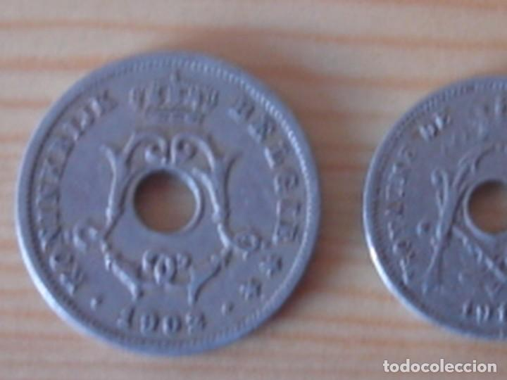Monedas antiguas de Europa: Bélgica. Leopoldo II. 10 céntimos 1902 en neerlandés. Alberto I. 5 céntimos 1913 en francés - Foto 5 - 76043063