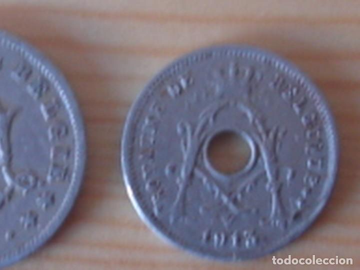 Monedas antiguas de Europa: Bélgica. Leopoldo II. 10 céntimos 1902 en neerlandés. Alberto I. 5 céntimos 1913 en francés - Foto 6 - 76043063