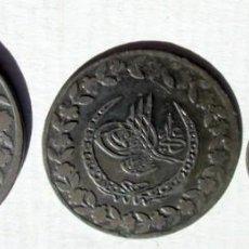 Monedas antiguas de Europa: TURQUIA- MAHAMUD II - 1223 H- 4 MONEDAS DE VELLON. Lote 76939857