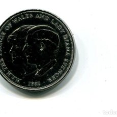 Monedas antiguas de Europa: MONEDA-INGLATERRA-PRINCIPE DE GALES Y DIANA-PLATA 1981. Lote 77639997