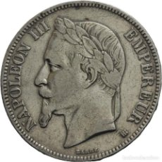 Monedas antiguas de Europa: FRANCIA 5 FRANCOS 1868 BB STRASSBOURG NAPOLEÓN III. Lote 77738165