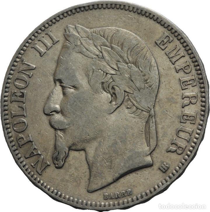 FRANCIA 5 FRANCOS 1868 BB STRASSBOURG NAPOLEÓN III (Numismática - Extranjeras - Europa)