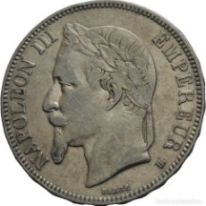 Monedas antiguas de Europa: FRANCIA 5 FRANCOS 1868 BB STRASSBOURG NAPOLEÓN III. Lote 77739217
