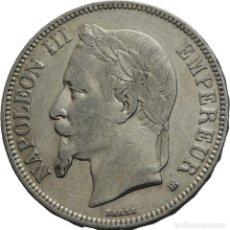 Monedas antiguas de Europa: FRANCIA 5 FRANCOS 1869 BB STRASSBOURG NAPOLEÓN III. Lote 77739433