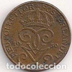 Moedas antigas da Europa: SUECIA - 1 ORE 1950 - KM#777.2. Lote 78188905