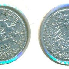 Monedas antiguas de Europa: ALEMANIA - IMPERIO ALEMÁN - 1/2 MARCO 1905 - G ( MBC- ) CECA G - PLATA. Lote 78357757