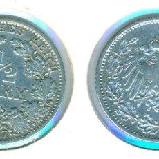 Monedas antiguas de Europa: ALEMANIA - IMPERIO ALEMÁN - 1/2 MARCO 1907 - G ( MBC ) CECA G - PLATA. Lote 78358297