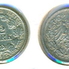 Monedas antiguas de Europa: ALEMANIA - IMPERIO ALEMÁN - 1/2 MARCO 1915 - G ( EBC- ) CECA G - PLATA. Lote 78359201