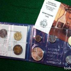 Monedas antiguas de Europa: SAN MARINO 1990 ESTUCHE OFICIAL 10 MONEDAS, CONTIENE LAS 1000 LIRAS PLATA CON GARANTÍA Y CERTIFICADO. Lote 78949961