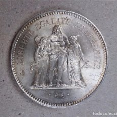Monedas antiguas de Europa: LOTE DE 3 MONEDAS DE 50 FRANCOS EN PLATA FRANCESA, MODELO HÉRCULES. AÑO 1977. EBC+. Lote 78993313