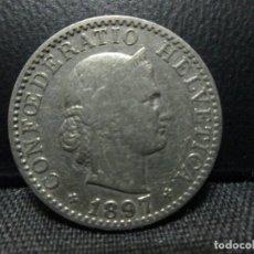 Monedas antiguas de Europa: 20 RAPEN 1897 SUIZA =SOLO TIRADA DE 500.000 =. Lote 79159357