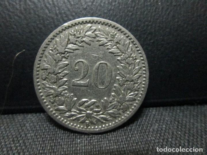 Monedas antiguas de Europa: 20 rapen 1897 suiza =solo tirada de 500.000 = - Foto 2 - 79159357