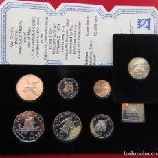 Monedas antiguas de Europa: MAN 1979 SILVER SERIE 1/2 HALF. 1 2 5 10 50 PENCE 1 LIBRA COA. Lote 79491245