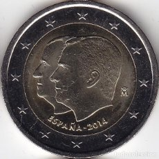 Monedas antiguas de Europa: 2 € EUROS - ESPAÑA 2014 - PROCLAMACIÓN DE SU MAJESTAD EL REY DON FELIPE VI - PEDROIG - SIN CIRCULAR. Lote 109508674