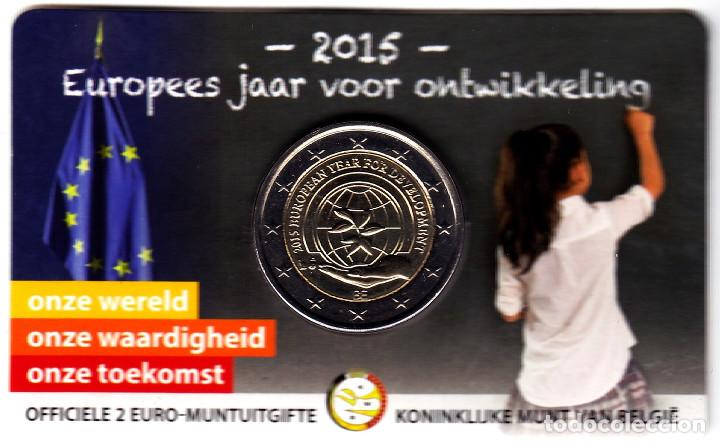 2 € EUROS - BÉLGICA 2015 - COINCARD 2015 AÑO EUROPEO DEL DESARROLLO - PEDROIG - SIN CIRCULAR (Numismática - Extranjeras - Europa)