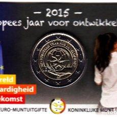 Monedas antiguas de Europa: 2 € EUROS - BÉLGICA 2015 - COINCARD 2015 AÑO EUROPEO DEL DESARROLLO - PEDROIG - SIN CIRCULAR. Lote 109508591