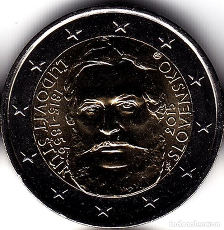2 € EUROS - ESLOVAQUIA 2015 - 200º ANIVERSARIO DEL NACIMIENTO ?UDOVÍT ŠTÚR - PEDROIG - SIN CIRCULAR (Numismática - Extranjeras - Europa)