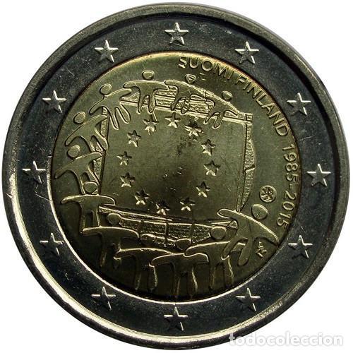 2 € EUROS - FINLANDIA 2015- XXX ANIVERSARIO DE LA BANDERA EUROPEA (COMÚN) - PEDROIG - SIN CIRCULAR (Numismática - Extranjeras - Europa)