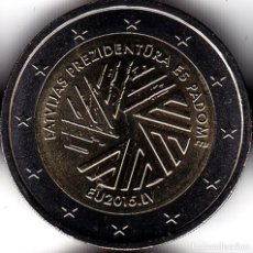 Monedas antiguas de Europa: 2 € EUROS - LETONIA 2015 - PRESIDENCIA LETONA DEL CONSEJO DE LA UE - PEDROIG - SIN CIRCULAR. Lote 109508667