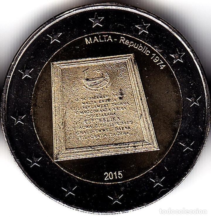 2 € EUROS - MALTA 2015 - 1974-REPÚBLICA - PEDROIG -SIN CIRCULAR (Numismática - Extranjeras - Europa)